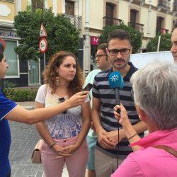 JSA presenta en Coín su campaña 'El muro contra la violencia de género'