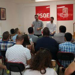 Juventudes Socialistas de Andalucía recibe en Málaga al secretario general electo de JSE