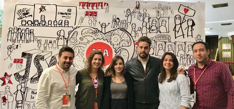 """Este fin de semana se ha celebrado el XII Congreso Provincial de las Juventudes Socialistas de Jaén, con el lema """"Nuestra fuerza, la ilusión""""."""