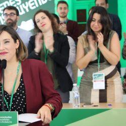 Mariola López Prados, elegida nueva secretaria general de las JJ.SS de Andalucía con un 100% de los votos.